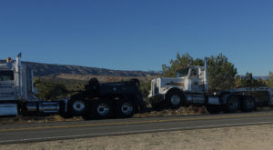 we're towing a semi out of the desert to the shop for repairs
